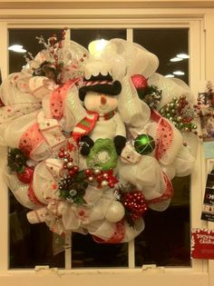 Snowman Wreath - made special for a new friend!!!