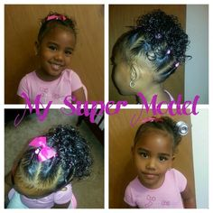 Twist into a ponytail. Mixed baby hairstyles