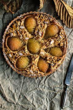 Tarte Bourdaloue, tarta de peras y crema de almendra - Bake-Street.com