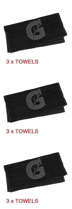 Other Football Clothing and Accs 74676: 3 - Gatorade Sport Towels Black Golf Baseball Basketball Football Tone On Tone -> BUY IT NOW ONLY: $30.97 on eBay!