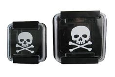 #Skull Tupperware - this is awesome! #black #kitchen.  Probably make it harder to get the fam to eat leftovers, though!