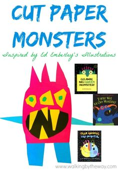 Matisse Art Project Collage · Art Projects for Kids Cute Monsters, Monster Art, Projects For Kids, Art Projects, Elementary Art Lesson Plans, Little Monster Party, Monster Crafts, Kindergarten Lessons, Art Rooms