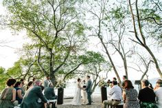 Picture perfect destination wedding ceremony on the beach in Costa Rica. WEDDINGS AT RESERVA CONCHAL - COSTA RICA WEDDING PHOTOGRAPHERS | A Brit & A Blonde