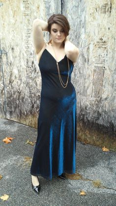 Vintage 90s Metallic Slip Dress by DarlingCherry on Etsy