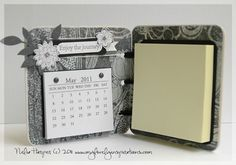 Desk-Sets - uses coasters, but need to punch holes through them.  Replace the calendar with a verse or a picture?