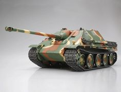 The Tamiya R/C Jagdpanther in scale is a radio control model tank kit. Model Tank Kits, Model Tanks, Plastic Model Kits, Plastic Models, Torsion Bar Suspension, Full Option, Army Party, Tamiya Models, Rc Tank