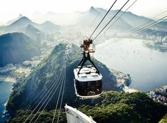 Sugarloaf Mountain Cable Car, Rio de Janeiro. I will admit, I was a bit freaked out riding this cable car.