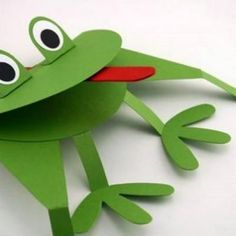 Frog paper puppet - use as a birthday invite?