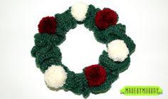 11 FREE Crochet Wreath Patterns: Simple Christmas Wreath FREE Crochet Pattern