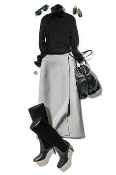 Work Fashion, Fashion 2020, Skirt Fashion, Fashion Dresses, Fashion Over, Fashion Looks, Muslim Fashion, Korean Fashion, Mode Outfits