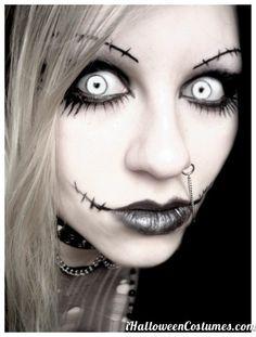 zombie girl makeup for Halloween - Halloween Costumes 2013