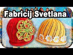 Шапочка весенняя, вязание крючком для начинающих, crochet. - YouTube