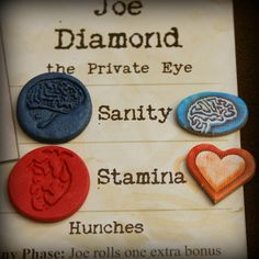 Stamina / Sanity Tokens for Arkham Horror Eldritch Horror or other board games-hand made with anatomically correct hearts & brains-set of 25 Anatomically Correct Heart, Horror Party, Eldritch Horror, Gaming Station, Gaming Accessories, Diy Games, Tabletop Games, Cthulhu, Halloween Themes