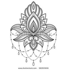 Mehndi lotus flower pattern for Henna drawing and tattoo. Decoration in ethnic o… Mehndi lotus flower pattern for Henna drawing and tattoo. Decoration in ethnic oriental, Indian style. Lotusblume Tattoo, Henna Tattoos, Lotus Tattoo, Henna Tattoo Designs, Mehndi Designs, Body Art Tattoos, Tattoo Forearm, Orchid Tattoo, Chest Tattoo Designs Female