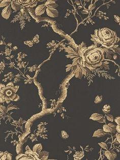DecoratorsBest - LWP65737W - ASHFIELD FLORAL - TOBACCO - Wallpaper