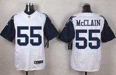 Dallas Cowboys #55 Rolando McClain White Men's Stitched NFL Elite