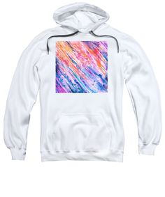 Purchase a hoodie / sweatshirt featuring the image of Cascade  by Expressionistart studio Priscilla Batzell.  Available in sizes S - XXL.  Each hoodie is printed on-demand, ships within 1 - 2 business days, and comes with a 30-day money-back guarantee.