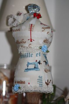 Dressmaker Form Pin Cushion Mannequin Tailors Print by sherimusum, $25.00