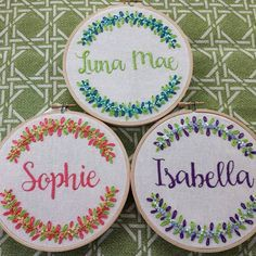 Awesome Most Popular Embroidery Patterns Ideas. Most Popular Embroidery Patterns Ideas. Embroidery Alphabet, Embroidery Shop, Learn Embroidery, Embroidery Hoop Art, Hand Embroidery Patterns, Embroidery Stitches, Name Embroidery, Embroidery Floss Bracelets, Bracelets Design