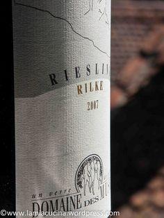 "Robert Taramarcaz, Domaine des Muses in Sierre: Riesling ""Rilke"""