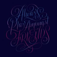 Type / Lettering / Poketo APAF – Erik Marinovich – Friends of Type