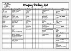 packing list template on pinterest templates budget templates and college packing lists. Black Bedroom Furniture Sets. Home Design Ideas
