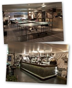Ping - Earls Court - Ping Pong Bar - Trendy - Serves Pizza - Turns into bar/club Fri & Sat otherwise more relaxed - Mid-range prices