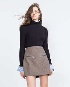 Image 2 of CHECK MINI SKIRT WITH ZIPS from Zara