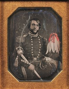 Daguerreotype Portrait of a Union Officer in Dress Uniform    http://www.skinnerinc.com/blog/2011/10/daguerreotypes-early-photography-collection-rod-mackenzie.php
