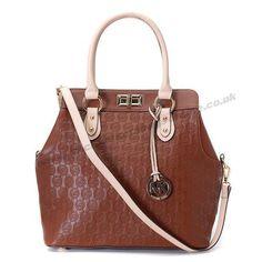 Michael Kors Lock-frame Shoulder Bag Sale Brown