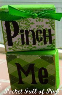 Pinch Me St. Paddys Day Blocks