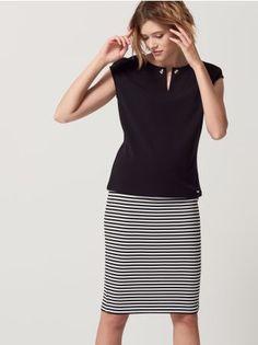 Mohito - Puzdrová sukňa s priečnymi prúžkami