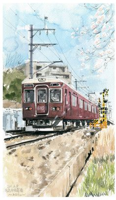 Automotor Serie 6000, de Hankyu Imazu Line, 1976, Japón