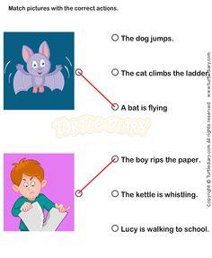 Action Verbs Worksheets 1 - esl-efl Worksheets - kindergarten Worksheets