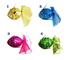 CHOOSE 3 Fish Hanging Decorations Sparkle by AnnushkaHomeDecor
