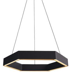Scott Bridgens and Simon James Geometric Hex LED Pendant ($1,395) ❤ liked on Polyvore featuring home, lighting, ceiling lights, lamps, geometric lamp, wire lights, recessed light, hex light and recessed ceiling lights