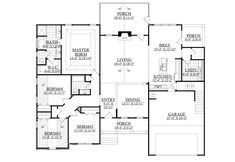 This ranch design floor plan is 2184 sq ft and has 4 bedrooms and has 2 bathrooms. Ranch Style Homes, House Floor Plans, My Dream Home, Tiny House, Baths, New Homes, Construction, House Design, Flooring