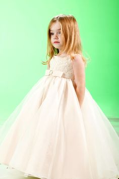 Discount Fairy Straps Appliques Empire Waist Puffed A-line Flower Girl Dress In UK (UKCFGD-037) Online