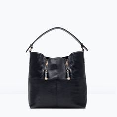 ZARA - SHOES & BAGS - BUCKET BAG WITH ZIPS