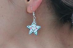 Shrink plastic earrings * Boucles d'oreille plastique fou
