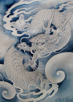 Chris Garver dragon painting