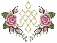 Pearl Roses 4 - 4x4 | Floral - Flowers | Machine Embroidery Designs | SWAKembroidery.com Ace Points Embroidery