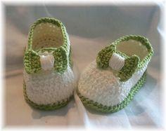 Gehaakte Zomerse Katoenen Baby Schoentjes van Titfer Designs op DaWanda.com