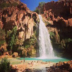 Havasupai at the bottom of the Grand Canyon
