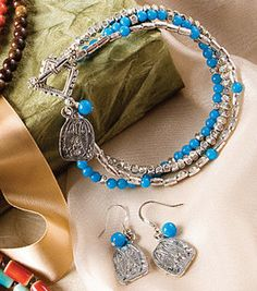 Blue & Silver Bracelet with Earrings : Jewelry & Bead Projects :  Shop | Joann.com