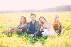From Three Nails Photography. I love this idea for a bridal party shot.