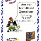 How to Answer Text-Based Questions in all Content Areas: The Common Core State Standards require students to gather evidence, knowledge and insight from what they read. In fact, 80 to 90% of the Reading Standards require text dependent analysis! $