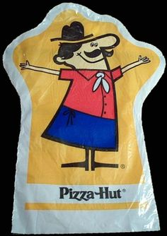 The Pizza Hut puppet they gave these out to keeps kids occupied in the restaurants.  Lol wow it has memories.