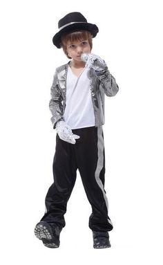 47317740521 M ~ XL 2016 Halloween Cosplay Mike Prince Stade MJ Gar ccedil on Carnaval  Danse Costume Costume Party Superstar Michael Jackson Enfants cadeau