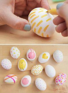 Basket easter eggs kids ideas for 2019 Easter Eggs Kids, Making Easter Eggs, Easter Egg Dye, Easter Art, Coloring Easter Eggs, Hoppy Easter, Easter Crafts For Kids, Painting Eggs For Easter, Easter Ideas